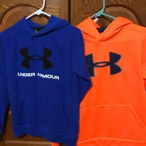 Lot of two Under Armour hoodies youth large
